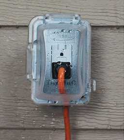 covered outdoor outlet