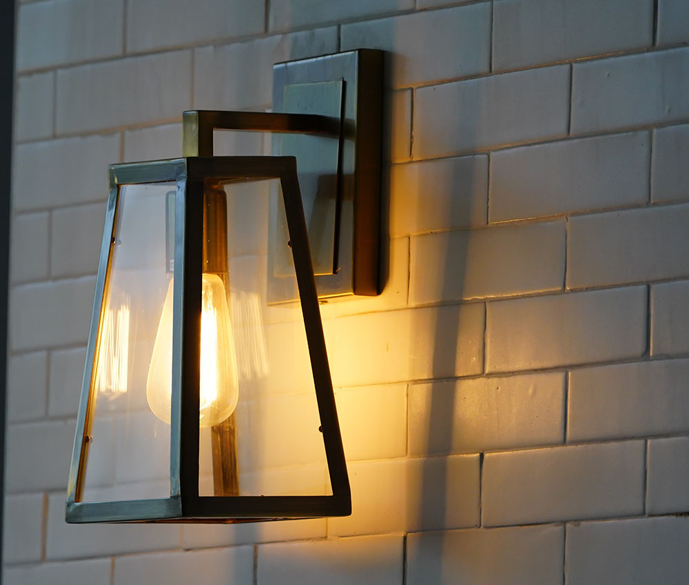 outdoor light attached to wall